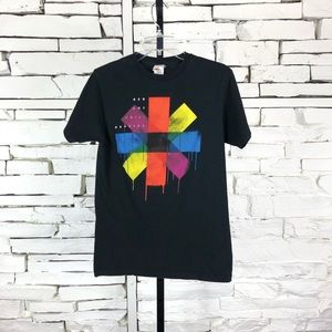 Red Hot Cili Peppers Multi Color Logo T-Shirt 1513